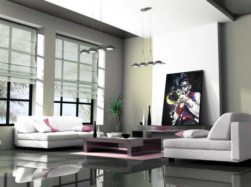 Ukážky v interiéri