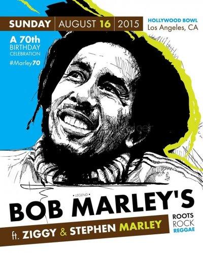 Bob Marley anniversary poster