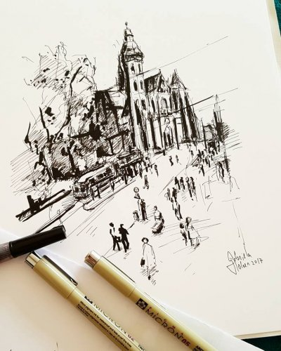 Drawing of Kosice